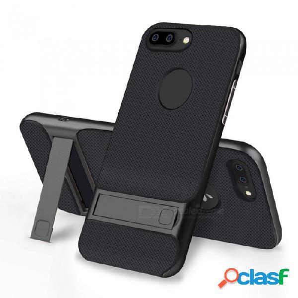 Naxtop 2-en-1 cubierta trasera de tpu suave + parachoques de pc duro de doble capa con soporte para iphone 8 plus