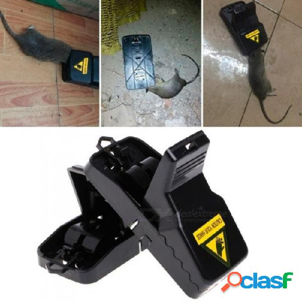 Trampa para ratas reutilizable atrapa ratones ratonera ratonera roedor fácil atrapador fácil de cebo color negro con 2 piezas 2pcs