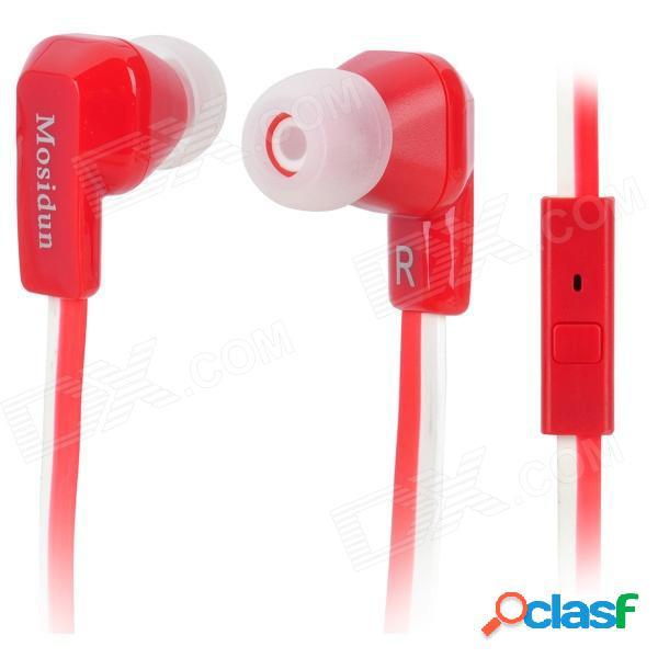 Auriculares intrauditivos mosidun msd-500 con micrófono para iphone / samsung / nokia - rojo + blanco