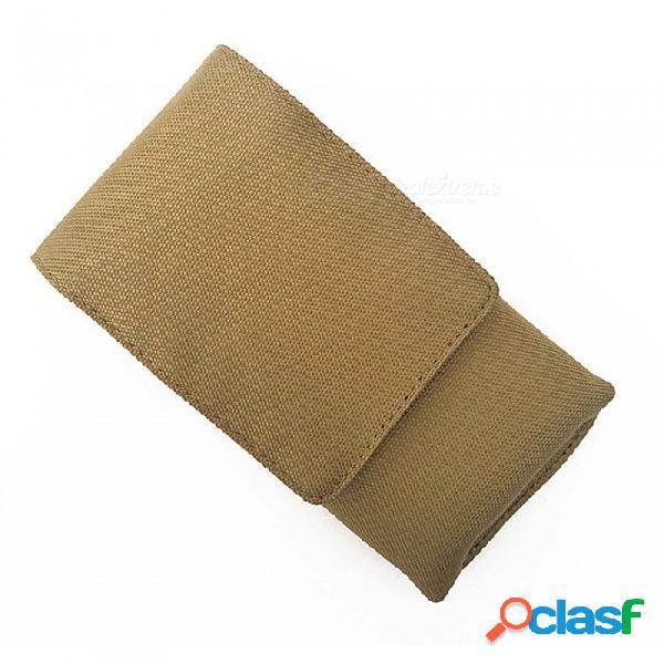 Bolso táctico multifuncional al aire libre del cinturón de los deportes de la bolsa de deportes del bolso de la pequeña para el teléfono móvil de la pantalla grande de 6 pulgadas - de color c