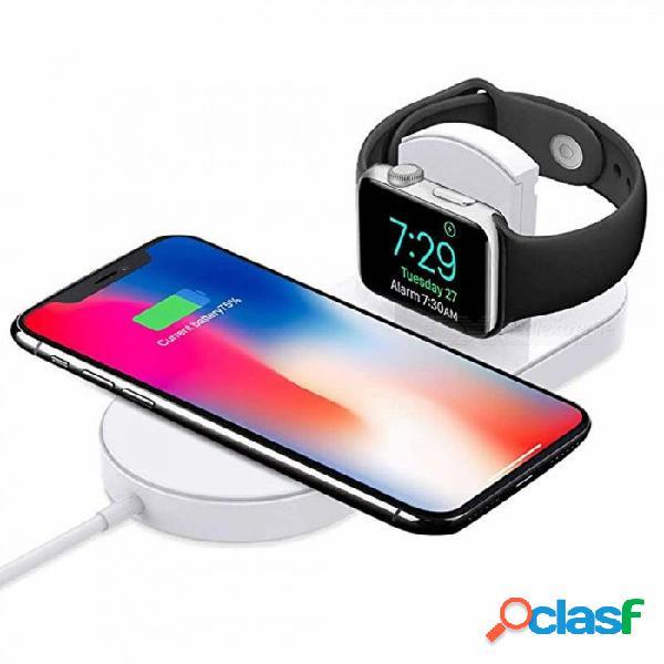 Cwxuan 2-en-1 cargador rápido inalámbrico para apple watch serie 3/2 / iphone x / 8/8 más samsung galaxy s8 / s9 / plus / note 8 note9 / s7