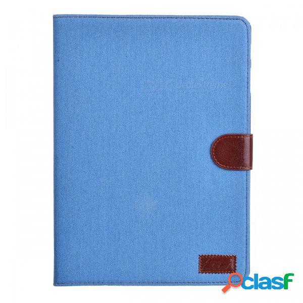 Estuche abierto con estilo w / soporte / ranuras para tarjetas para 10.5 '' samsung galaxy tab s t800 - cielo azul + marrón