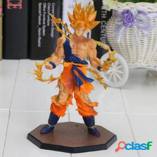 Figuras de acción anime 17 cm dragon ball z super saiyan son goku pvc juguete de colección modelo material de pvc con caja de color