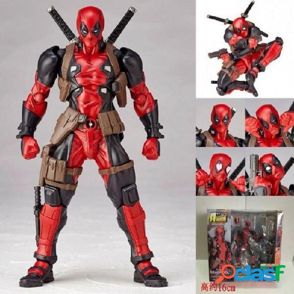 Figuras de acción de deadpool figuras de superhéroes niños juguetes para niños niños modelo de anime tamaño sobre 16 cm pvc material rojo