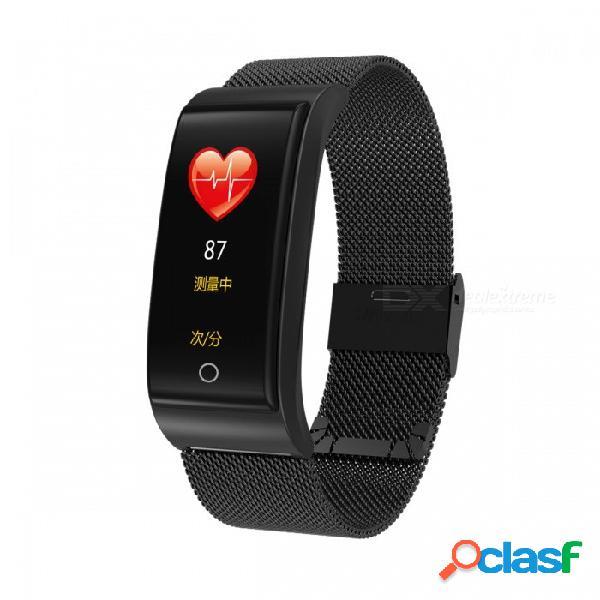 Pantalla a color dmdg resistente al agua pulsera inteligente monitor de presión arterial monitor de presión arterial reloj para ios android- negro