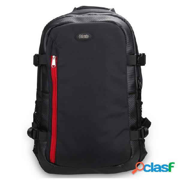 Sidande 3l de gran capacidad digital slr cámara de almacenamiento de bolsa mochila para nikon / sony / canon - negro