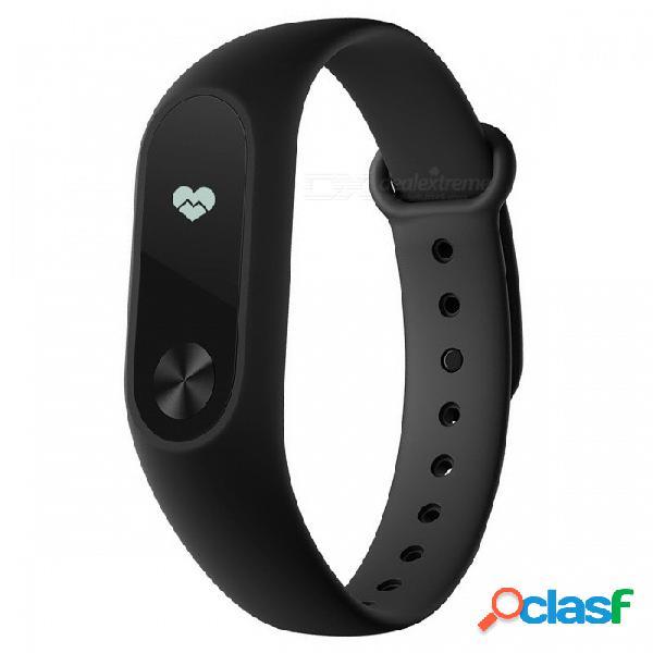 Versión global xiaomi mi banda 2 pulsera inteligente reloj pulsera con pantalla táctil oled de 0,42 - negro