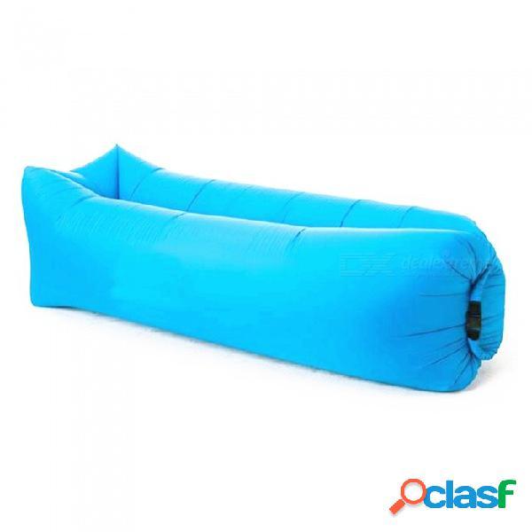 240 x 70 cm cuadrados al aire libre conveniente plegable inflable multipropósito doss cama 200kg - azul / morado / rosa