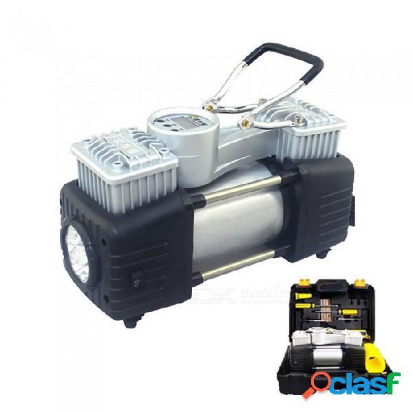Bomba de inflado eléctrica para automóviles esamact, bomba de aire inflable de doble cilindro montada en vehículo