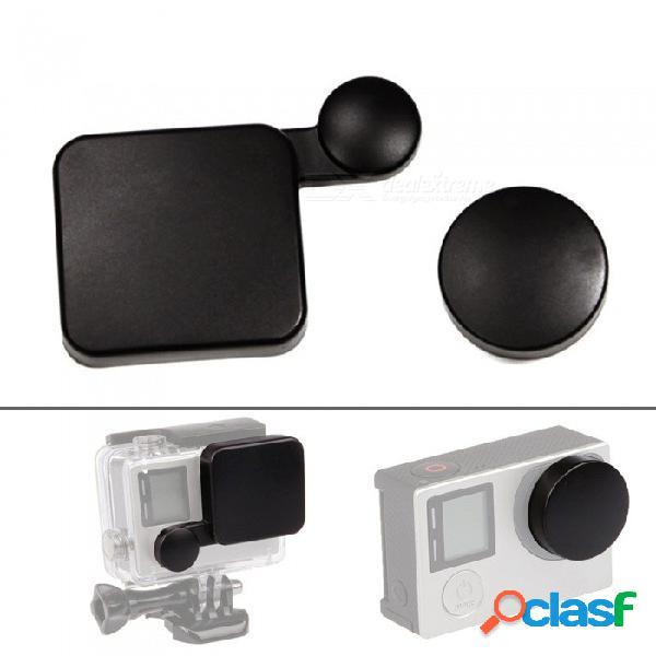La tapa de protección de la tapa del objetivo xsuni evita la cubierta de la lente para los accesorios de gopro hero 4 3+ - negro