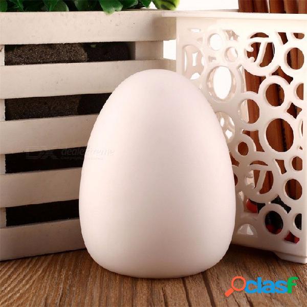 Led recargable que cambia de color en forma de huevo colorido decoración para el hogar lámpara bebé niño luces nocturnas luces de dormitorio lámpara de mesa rgb / blanco