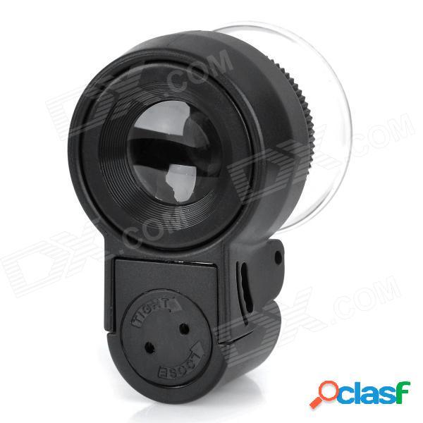 Microscopio mg13102 mini 45x con iluminación de 2 led + luz de detector de moneda - negro (3 x lr1130)