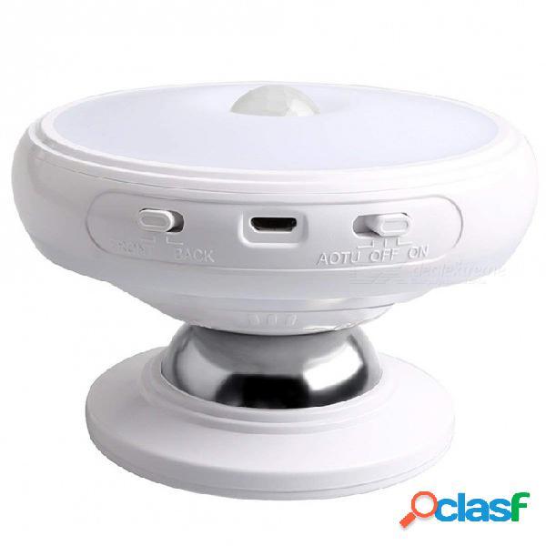 Sensor de luz nocturna, base de imán desmontable del cuerpo, led recargable usb, inducción del cuerpo humano, luz de noche de rotación de 360 grados