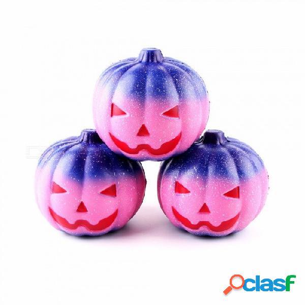 11 * 10 cm calabaza de estrella de halloween juguete de squishy squeeze de elevación lenta suave, juguete de alivio de tensión para niños adultos ciruela