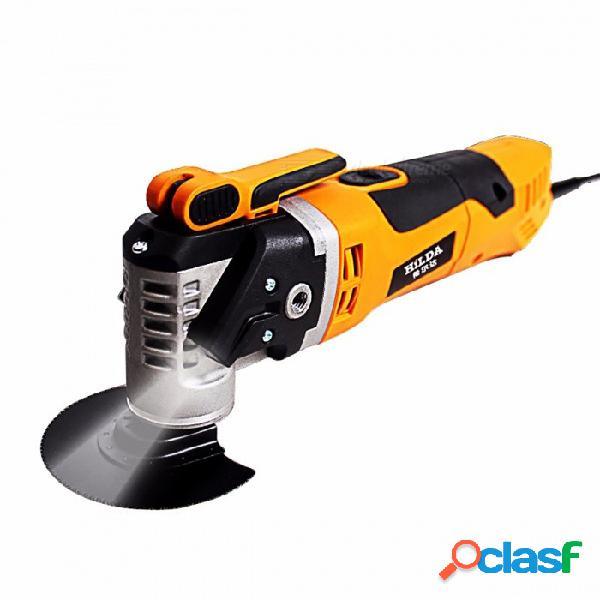 Herramienta renovadora de sierra eléctrica multifunción hilda, herramienta de carpintería recortadora oscilante de renovación del hogar amarilla