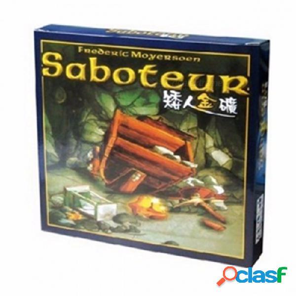 """Juego de mesa """"saboteador"""", jeu de base + juego de mesa de extensión con instrucciones en inglés para familiares, amigos saboteador 1 versión"""