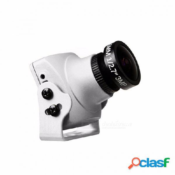 "Mini cámara original vox monster v2 1200tvl 1/3 ""cmos 16: 9 pal, ntsc fpv cámara con osd y audio plateado"