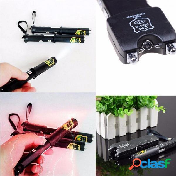 Mini juguete eléctrico de dos linternas de palo de bastón de juguete de estilo para el día de abril, el gadget de broma de la broma de la utilidad, el truco de broma