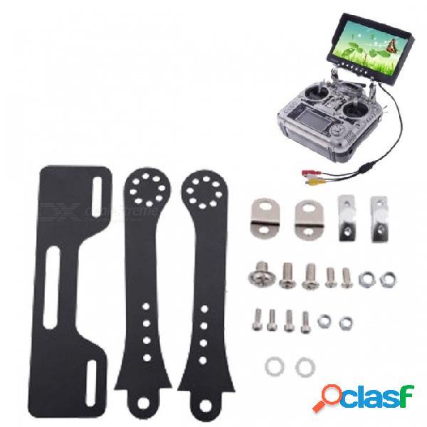 Soporte para montaje de monitor fpv de fibra de vidrio portátil goolrc, soporte de montaje de pantalla para transmisor rc negro