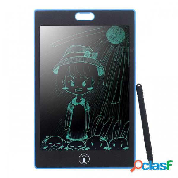 "Tableta de escritura portátil 8.5"" lcd, electrónica libre de papel lcd almohadilla de escritura con pluma para niños niños negro"