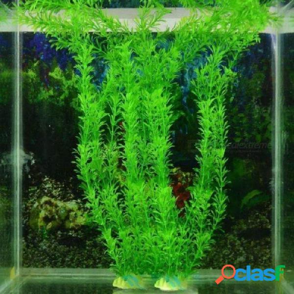 32 cm acuario de peces subacuáticos plantas adornos acuario planta del tanque de agua verde hierba decoración del acuario decoración del acuario 32 cm / verde
