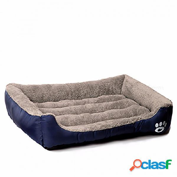 Cachorro de perro mascota de calentamiento, canastas de perro de nido de material suave, cachorro cálido de otoño e invierno para gato, cachorro xl / azul marino