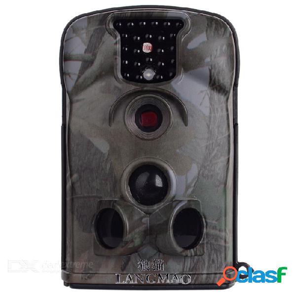 Videocámara langmao 12mp con cámara de video de rastreo de exploración con visión nocturna por infrarrojos de 25 led / tv apagada / dakota del sur