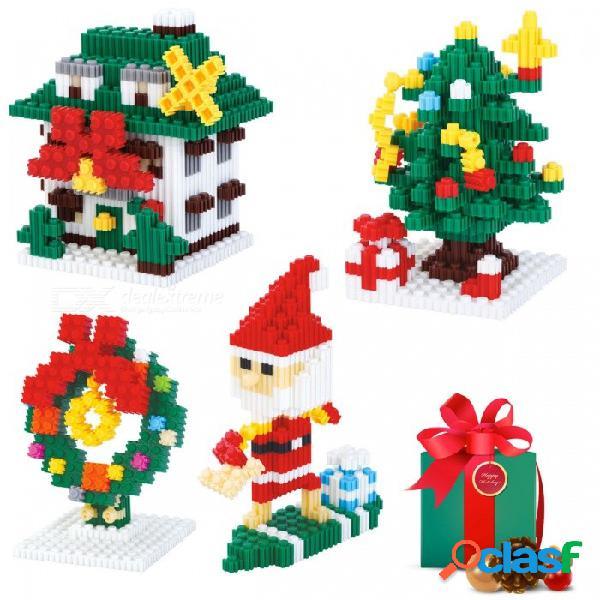 8215-8218 bloques de construcción de estilo de diamante de la serie de bricolaje ensamblados juguetes educativos de juguete rompecabezas para niños de color verde claro