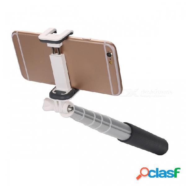 Bluetooth inalámbrico automático teléfono monopod plegable palo selfie ajustable para iphone, samsung, android