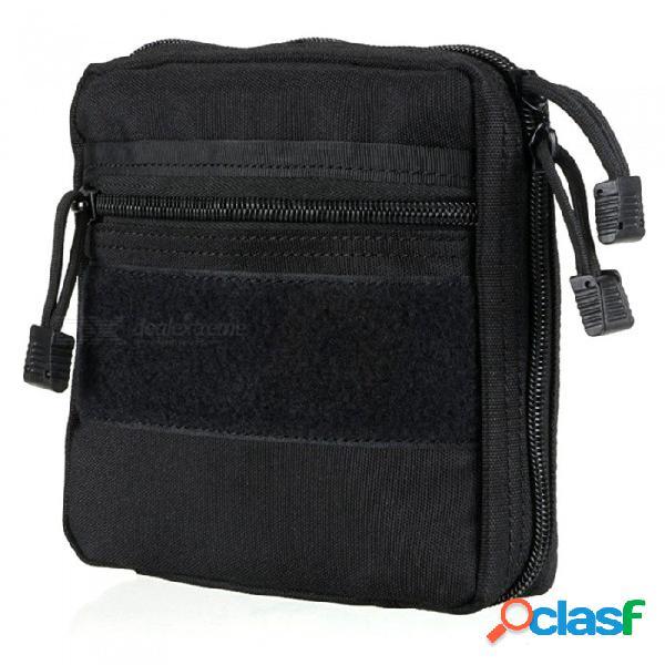 bolsa de almacenamiento de accesorios para herramientas al aire libre, bolsa médica, bolsa de acabado de lavado, bolsa para colgar táctica de la mochila - negro