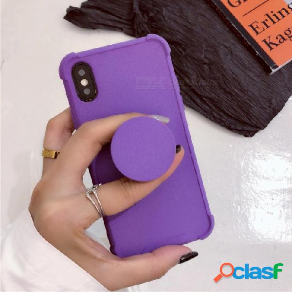 Funda protectora de tpu color sólido a prueba de choques de color sólido cooho con soporte para iphone 7 / 8