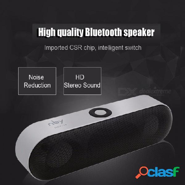 Nby-18 mini altavoz bluetooth altavoz inalámbrico portátil sistema de sonido estéreo 3d sonido envolvente soporte bluetooth rojo / altavoz