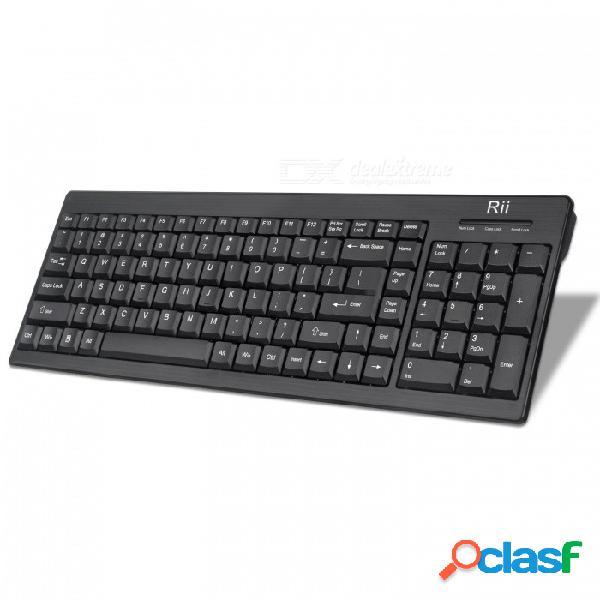 Rii rk901 mute ultra delgado teclado compacto de tamaño completo 2.4g inalámbrico para smart tv, pc portátil