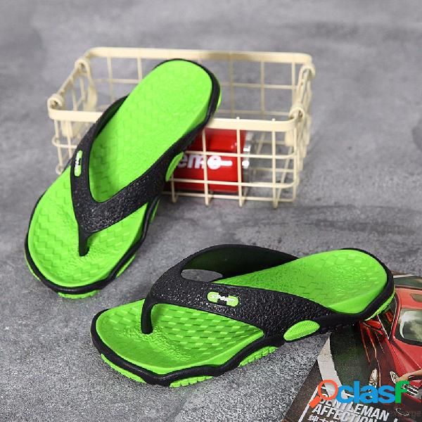 Zapatillas de playa antideslizantes para hombre de moda de verano antideslizantes resistentes a la abrasión sandalias zapatillas para hombres