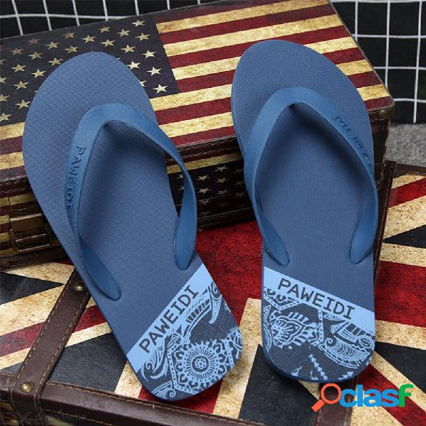 Zapatillas de playa paweidi de verano para hombre chancletas antideslizantes resistentes a la abrasión zapatillas planas para hombres