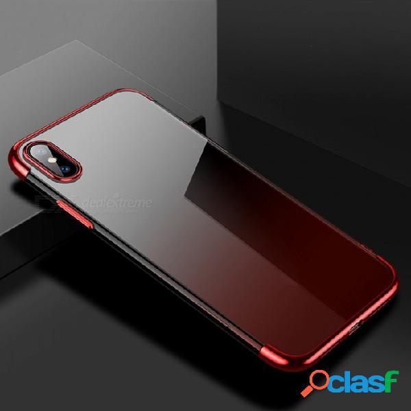 Cubierta protectora suave de la caja del teléfono tpu suave color del gradiente anti-rasguños cafele para iphone x