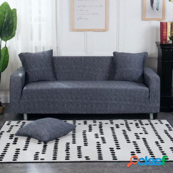 Sofá elástico ajustado envoltura todo incluido funda de sofá antideslizante sofá elástica toalla gris oscuro