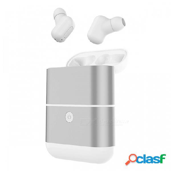 Zhaoyao x2-tws mini audífonos inalámbricos de auricular de estilo invisual con caja de carga - blanco (1 par)