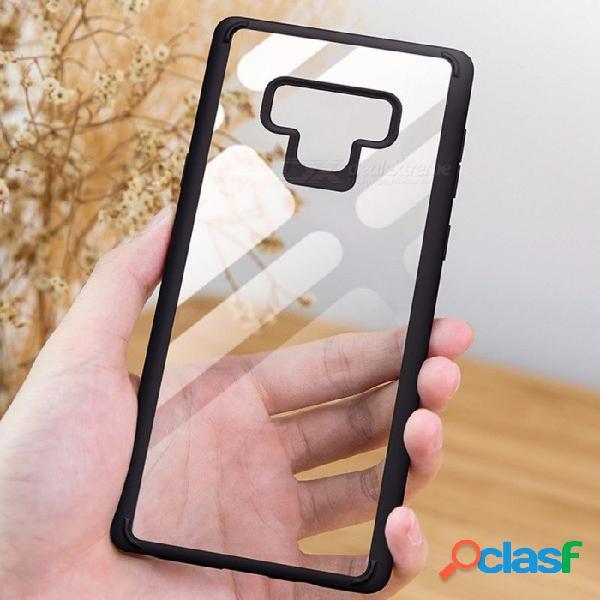 Caja de teléfono celular rock con estuche para teléfono celular tpu transparente para samsung note 9