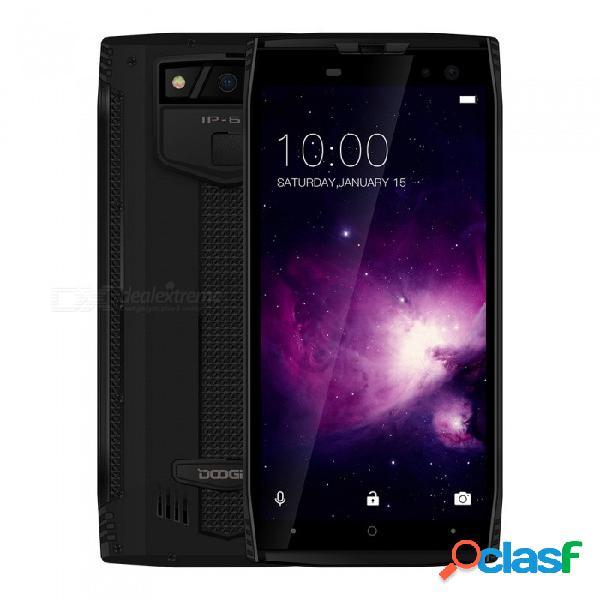 Doogee s50 con pantalla completa ip68 a prueba de agua, teléfono 4g con 6gb de ram, rom de 128gb, negro