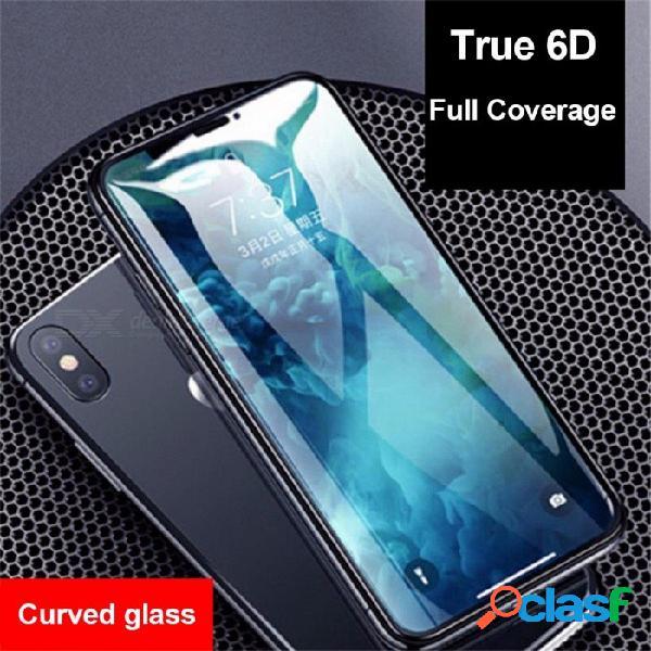 Hd claro 5d / película protectora de pantalla de cristal templado curvo cubierto 6d para iphone 6s / 6sp