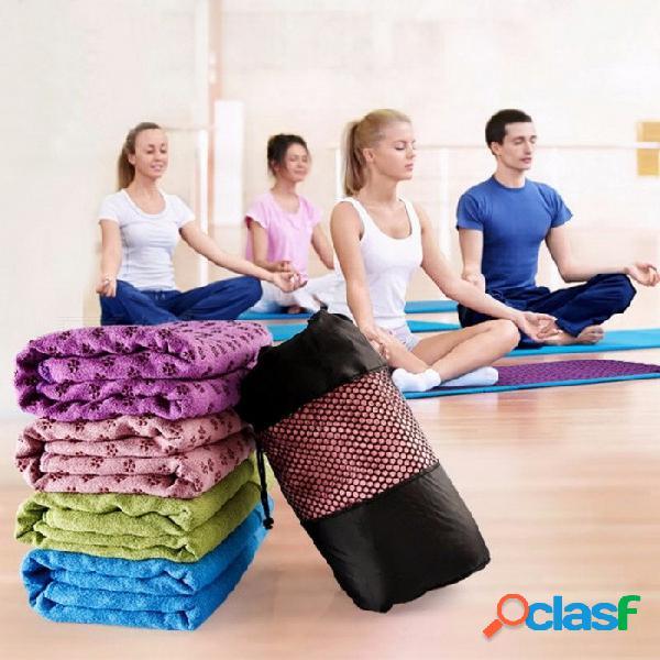 Jiemeirui antideslizante estera de la toalla de la cubierta de la yoga para el ejercicio de la aptitud del deporte entrenamiento de pilates ejercicio entrenamiento azul