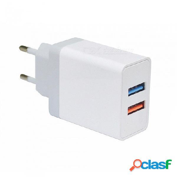 Mini sonrisa 5v 2.4a cargador universal de carga de viaje usb de carga rápida universal adaptador de pared - enchufe de la ue