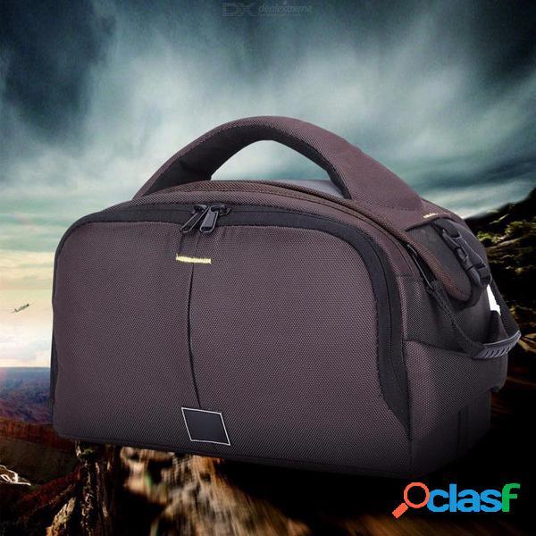 Bolso de la cámara dslr de gran capacidad para exteriores, resistente a la abrasión, nylon, bolso bandolera ajustable, bolso ykk zip multi