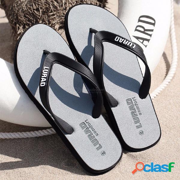 Chancletas lurad para hombres sandalias planas sandalias de punta abierta al aire libre para hombre sandalias casual l123am