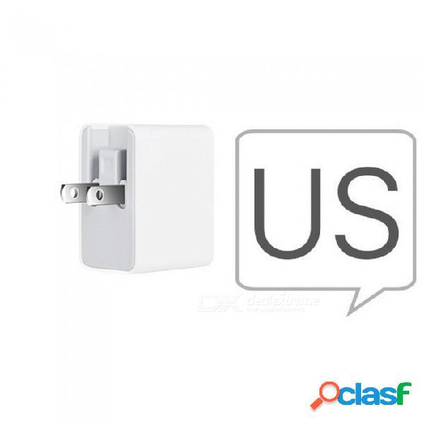 Hoco universal 5v 2.4a cargador de pared usb triple ue ee.uu. reino unido enchufe portátil adaptador de carga usb para iphone samsung uk enchufe / blanco