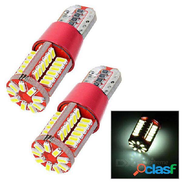 Luz de dirección del coche de t10 3.5w led / lámpara de respaldo blanca 5963k 242lm 57-smd 4014 (ca 12v / 2pcs)