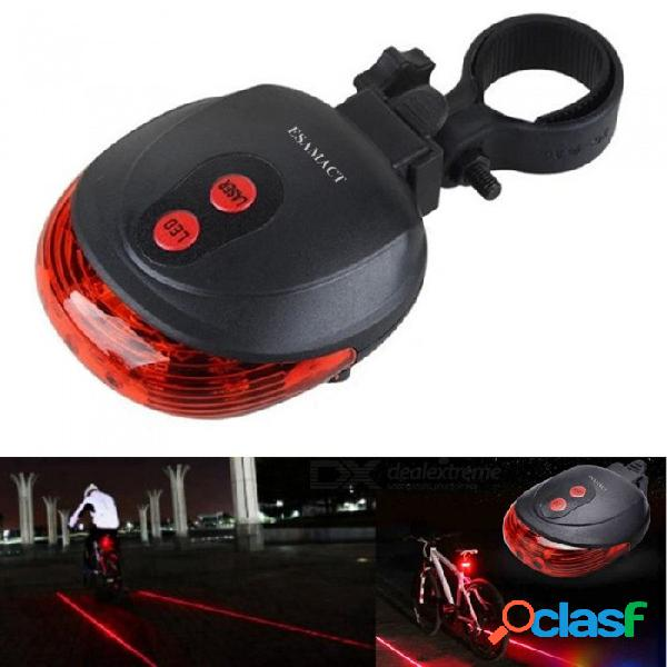 Luz de la bicicleta del laser del esamact led, luz de seguridad que completa un ciclo de la noche, luz trasera de la linterna de la bici de la bici