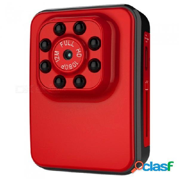 Mini grabadora quelima wi-fi hd dvr con grabación en bucle, visión nocturna infrarroja de 8 led - rojo