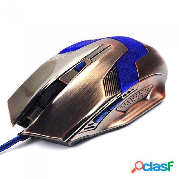 Ratón óptico del juego q1, ratones luminosos ergonómicos profesionales del jugador con cable del usb de la computadora para el ordenador portátil de la pc